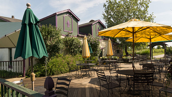 Harpersfield Vineyard Patio Area